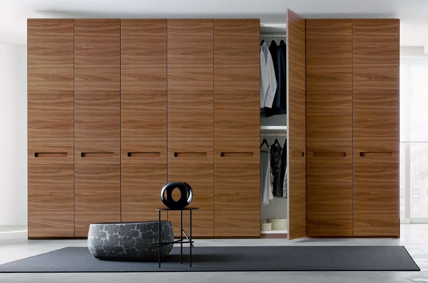 Modern Tv Unit Design Real Wood Veneer Contemporary Wardrobe Iwardrobes