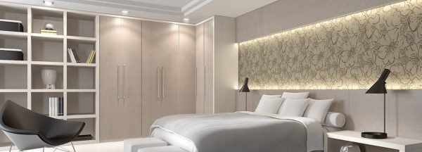 contemporary bedroom l shape corner wardrobe
