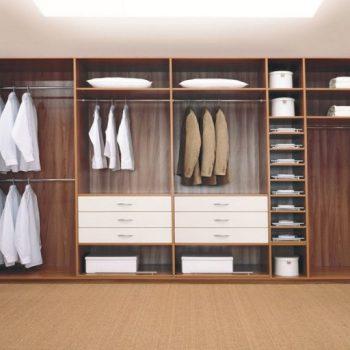 bespoke bedroom fitted wooden walk in wardrobe