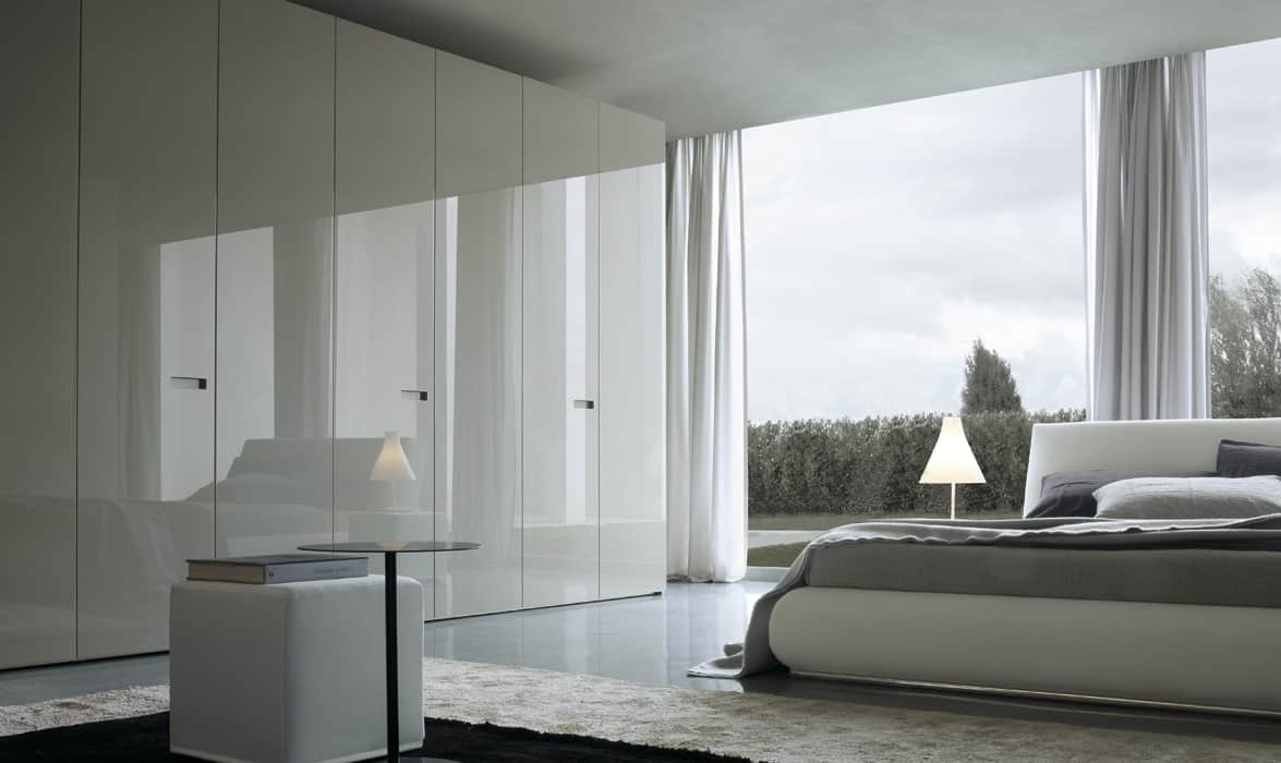 Modern Fitted Bedrooms Modern Hinged Door Wardrobes Iwardrobescouk