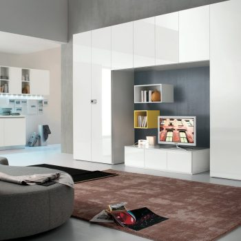 bespoke contemporary fitted storage solution for living room