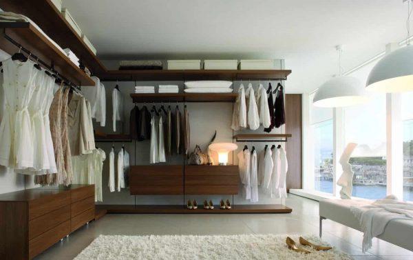 Bespoke fitted walk-in wardrobe