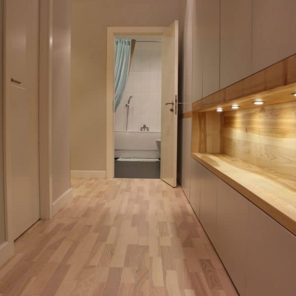 modern made to measure painted mdf closet in hallway 2