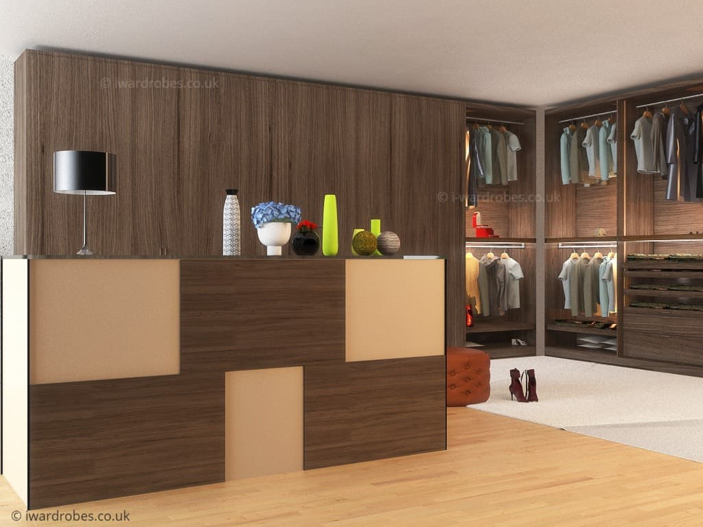 Bespoke walk in wardrobe
