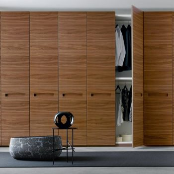 real wood veneer contemporary wardrobe