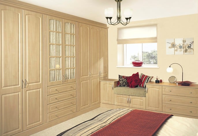 Made to measure fitted wardrobes pvc foil veneered mdf board fitted closets i wardrobes london for Built in wardrobes in bedroom