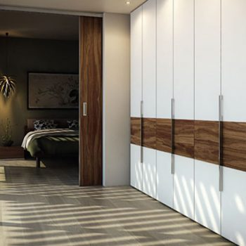 Bespoke fitted hinged wardrobe in London