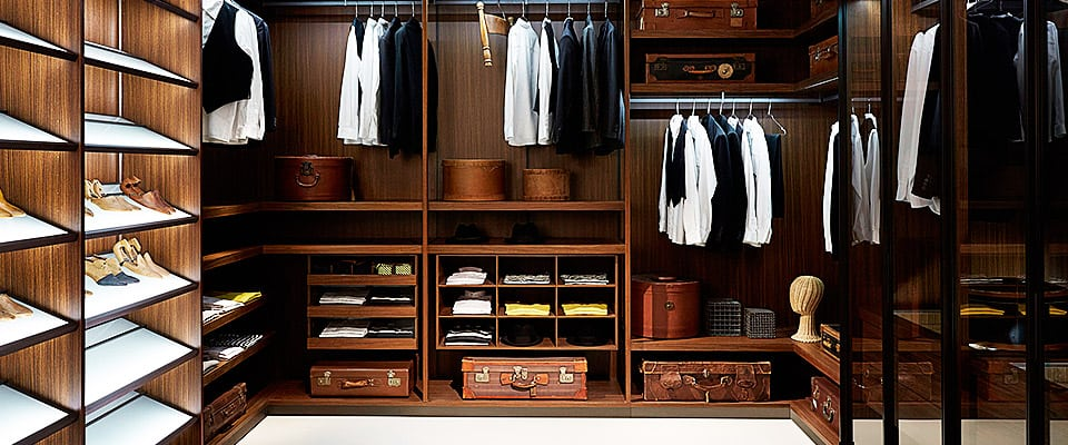 high quality fitted luxurious made to measure walk in wardrobe