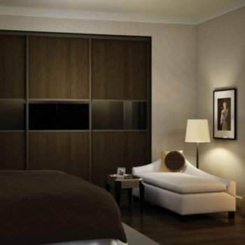 Contemporary wooden high quality fitted bedroom built in wardrobe