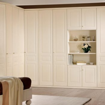 Fitted shaker style corner wardrobe in Holland Park, London