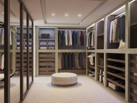 Bespoke walk in wardrobe in London