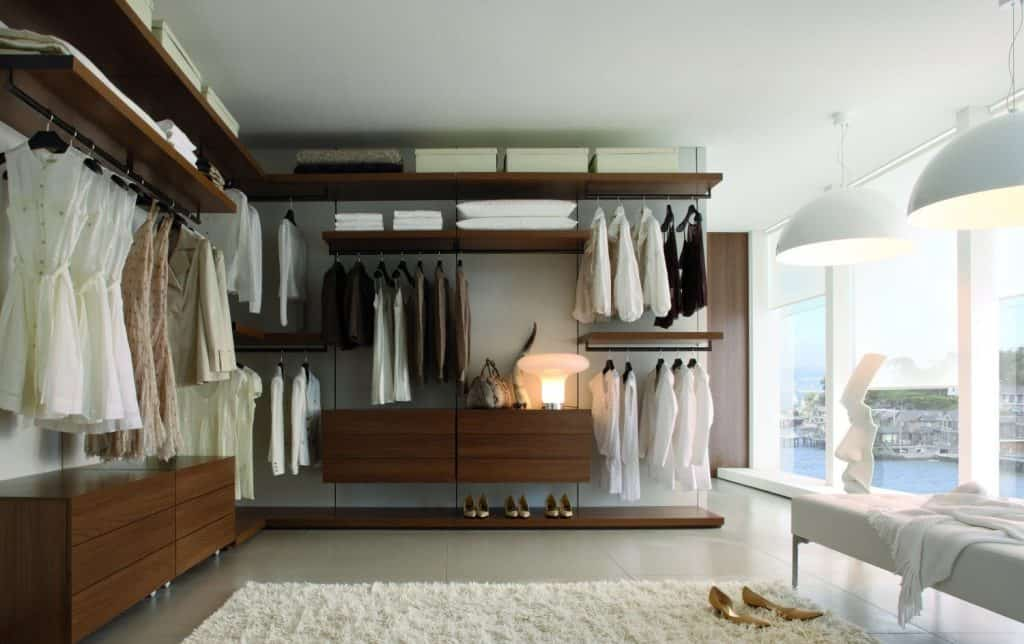 Bespoke fitted walk-in wardrobe