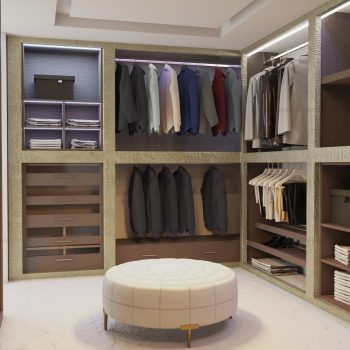 Bespoke walk-in wardrobe in London