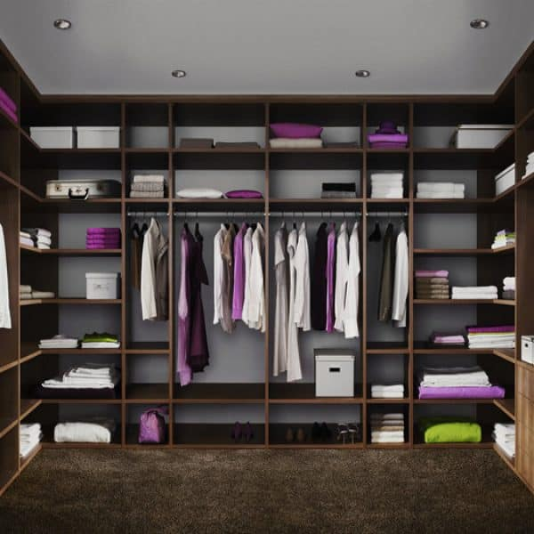 luxurious bespoke wooden fitted walk in Closet London