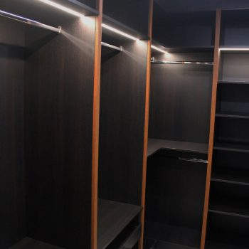 Fitted L shape walk in wardrobe in London