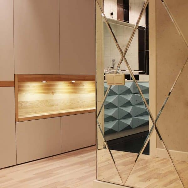 modern made to measure painted mdf closet in hallway 1