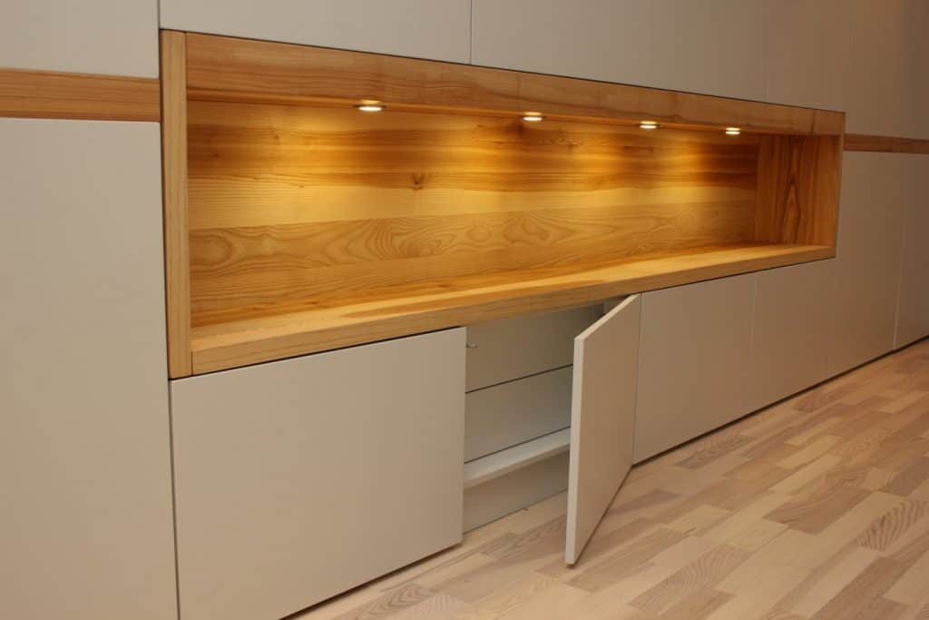 contemporary bespoke fitted painted mdf closet in hallway 3