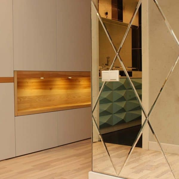 modern made to measure painted mdf wardrobe in hallway 4