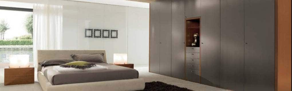 Contemporary luxurious made to measure bedroom or living room fitted wardrobe London