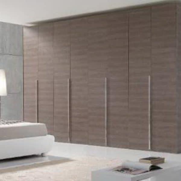 Contemporary high-quality bespoke bedroom hinged door wardrobes