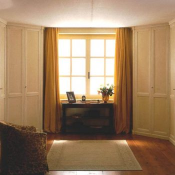 English style high ceiling shaker-style wardrobe london