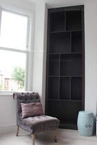 Custom made fitted book case for Victorian house in London