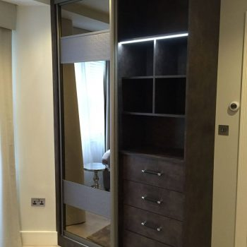Modern sliding door wardrobe in Highgate