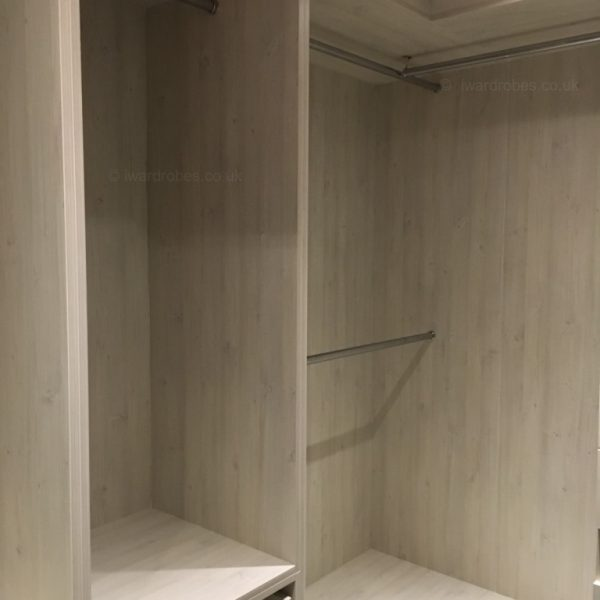 Custom made walk-in wardrobe in London