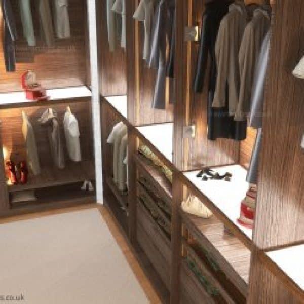 Bespoke walk in wardrobe London