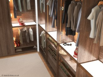 Bespoke walk in wardrobe London