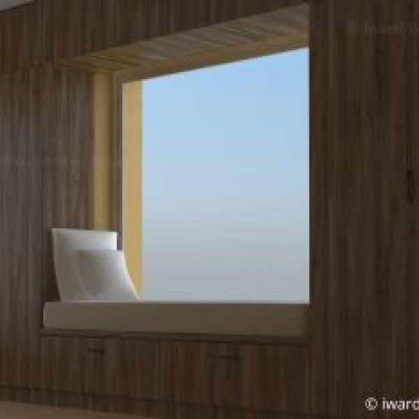 Modern made-to-measure hinged door wardrobe in Kensington