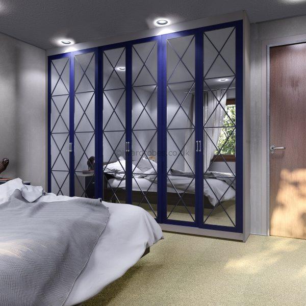 Built in custom closet with mirror doors