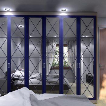 Custom made high ceiling wardrobe