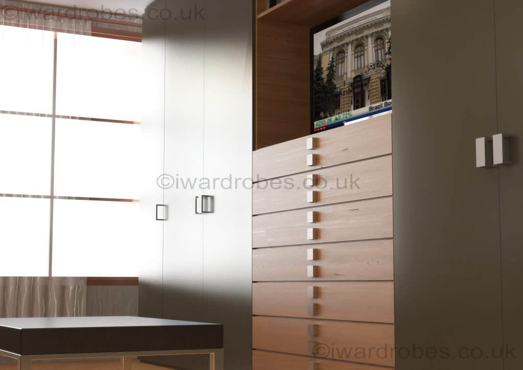 Bespoke_fitted_reception_wardrobe_with_tv_niche
