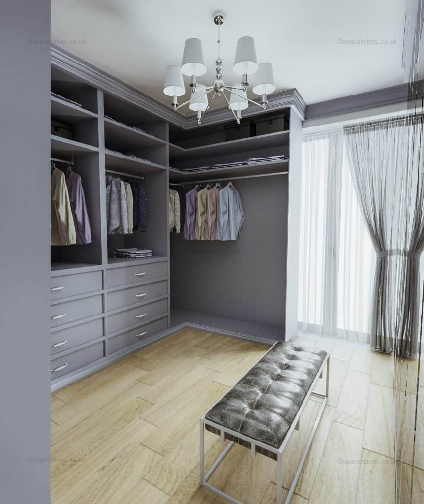 Bespoke elegant dressing room in London