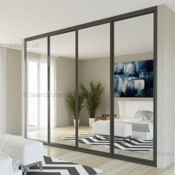 Fitted mirrored wardrobes London