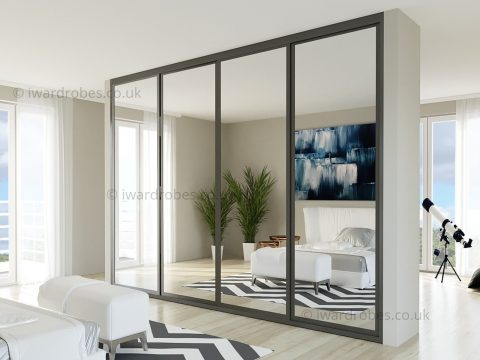Fitted mirror sliding door wardrobe London