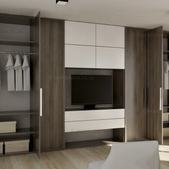 Modern fitted reception storage solution