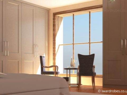 Fitted bedroom with hinged doors