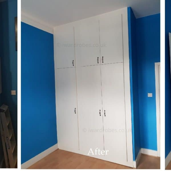 Fitted hinged door wardrobe
