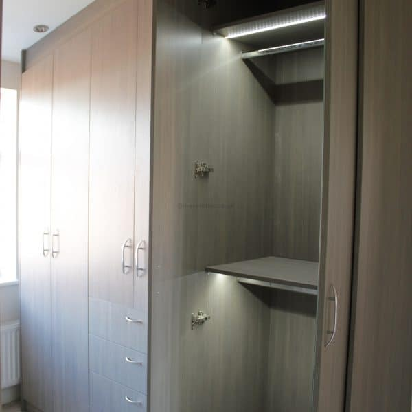 Fitted hinged door wardrobe in London