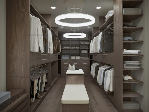 Dark fitted dressing room