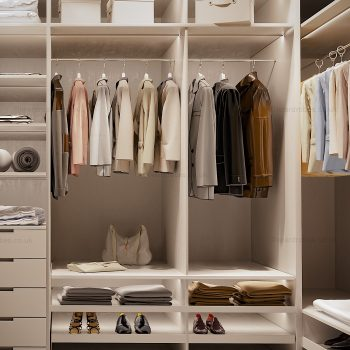 Modern light dressing closet