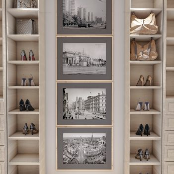 Custom made fitted shoe shelving
