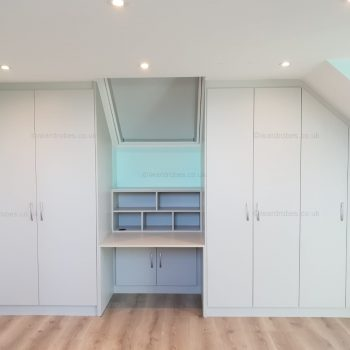 Custom loft hinged door closet