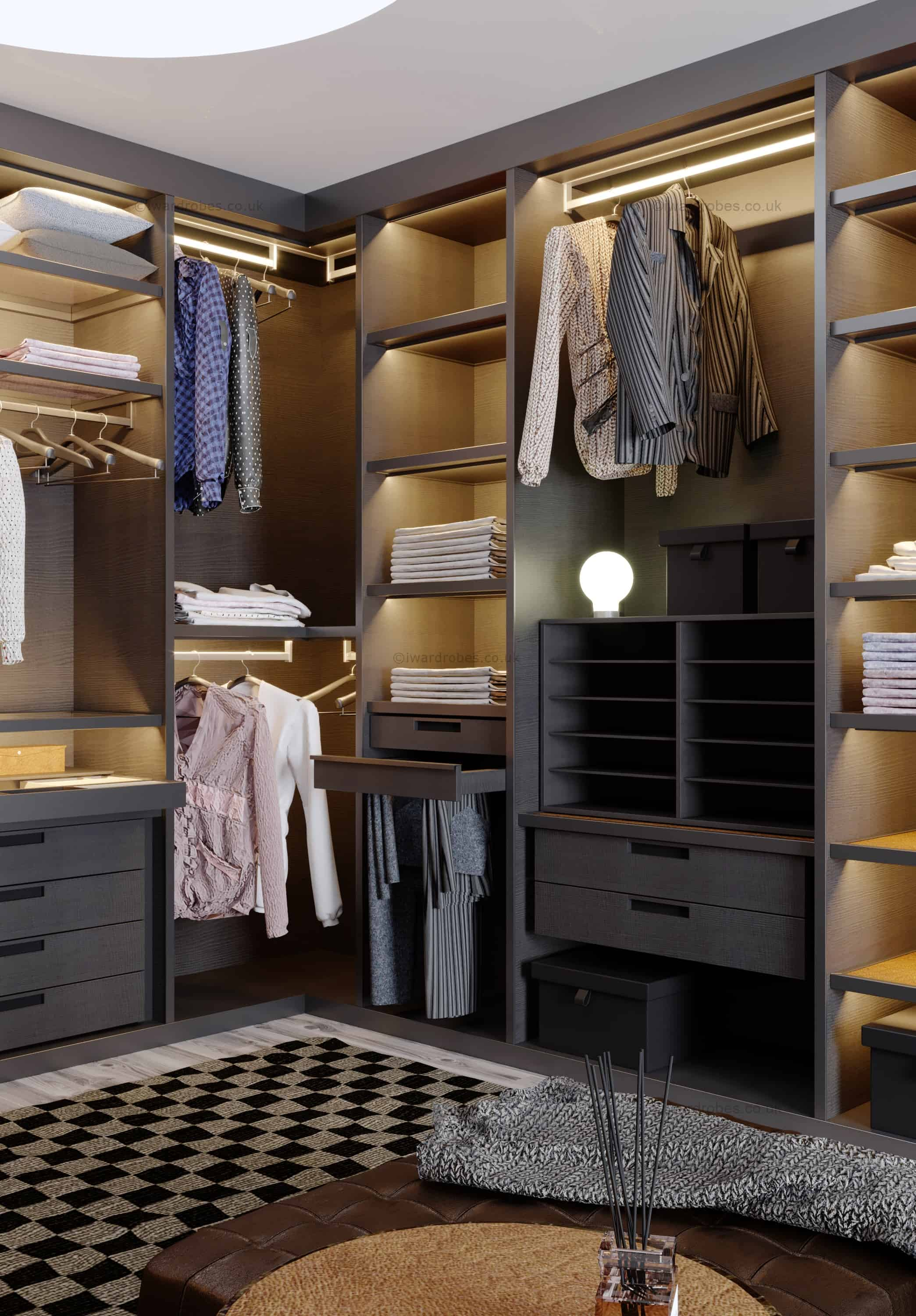 Bespoke Dressing Room Hyde Park I Wardrobes London