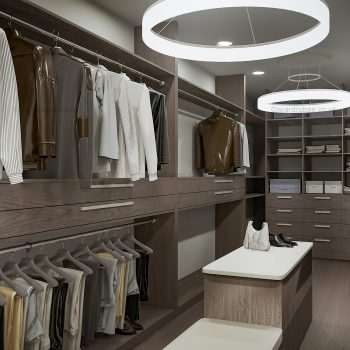 Modern fitted walk-in closet