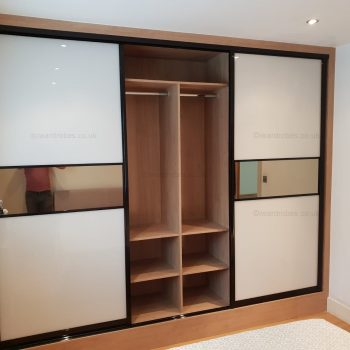 Custom fitted mirror wardrobe