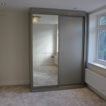 Bespoke built in sliding door mirror wardrobe