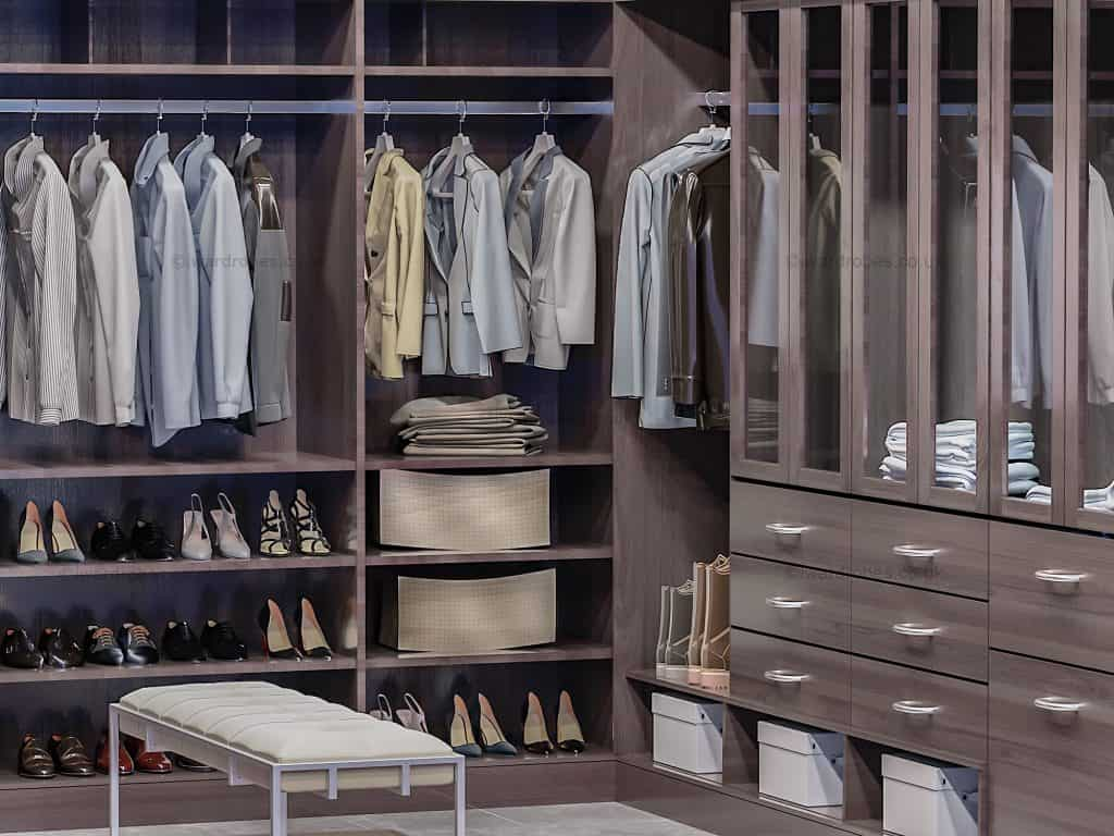 Bespoke dark dressing room in London
